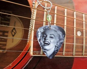 Marilyn Monroe Guitar Pick Necklace