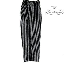 Pinstriped trousers, Girls pants, tailored pants, Toddler girl pants, special occasion, fully lined, exclusive handmade, black pants, girl