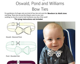 Oswald, Pond and Williams Bow Tie PDF Pattern