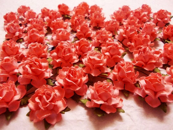 10 paper flowers size 1 mulberry paper craft flower paper flower 10 paper flowers size 1 mulberry paper craft flower paper flower craft wedding wedding bouquets and crafts coral paper roses from sjsupplies42 on mightylinksfo