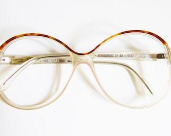 Authentic Vintage Eyeglasses/ sunglasses/ 1970s/ celluloid eyeglasses/ turtle eyeglasses