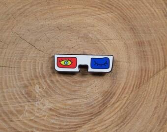 3D Glasses Pin - Glasses Pin