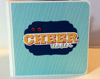 Cheerleading scrapbook chipboard premade pages  mini album brag book love to cheer