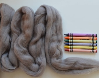 MERINO WOOL ROVING / Lingering Storm 1 ounce / wool for dreadlocks  / needle felt wool / wool for weaving / spinning wool