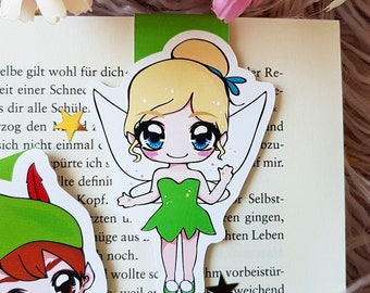"Magnet Bookmark ""Tinker""-inspired by Peter Pan by J. M. Barrie"