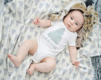Outdoorsy Baby Blanket, Baby Outfit, Baby Clothes, Baby Gift, Gender Neutral Baby, Clothing, Baby Shower Gift, Hiking, Mountains, Liv & Co.™