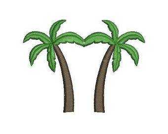 Palm Tree Embroidery Design, Machine Embroidery Design Pattern File, 4x4 Hoop, MULTIPLE FORMATS Download