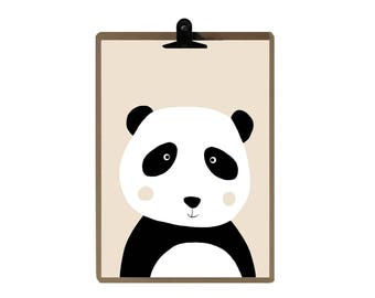 Panda nursery print - Nursery art prints - baby nursery decor - nursery wall - Children Art - Kids Room