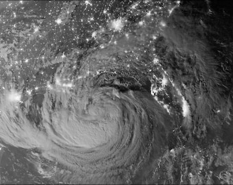 Poster, Many Sizes Available; Hurricane Isaac By Night.Jpeg_Files