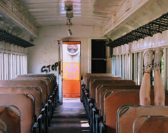 Abandoned Train Photograph