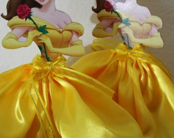 Princess Belle centerpiece, princess Belle party decoration