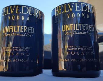 Belvedere Black rocks drinking glass (set of 2)