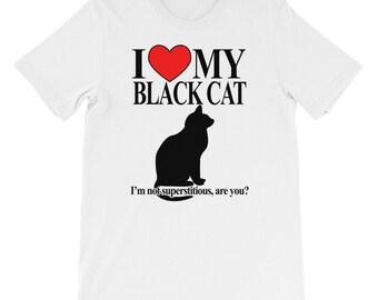 I Love My Black Cat T-shirt