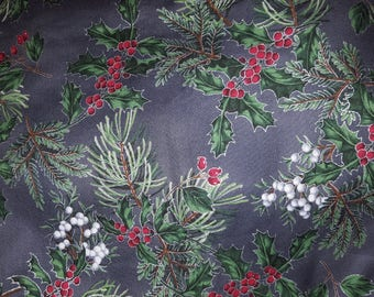 Reversible Placemats done in Designer Gray Christmas/Holiday Fabric