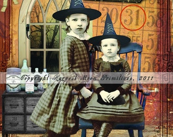 Primitive Halloween - Limited Edition, Original Art Print