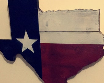 Wooden state of Texas sign