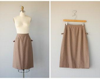 1970s Skirt | 70s Brown Wool Skirt | Midi Skirt | Saks Fifth Avenue