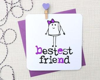 bestest friend greeting card