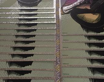 The Proudest Monkey Dave Matthews Portrait Limited Edition Screen Print (Crackle Foil)