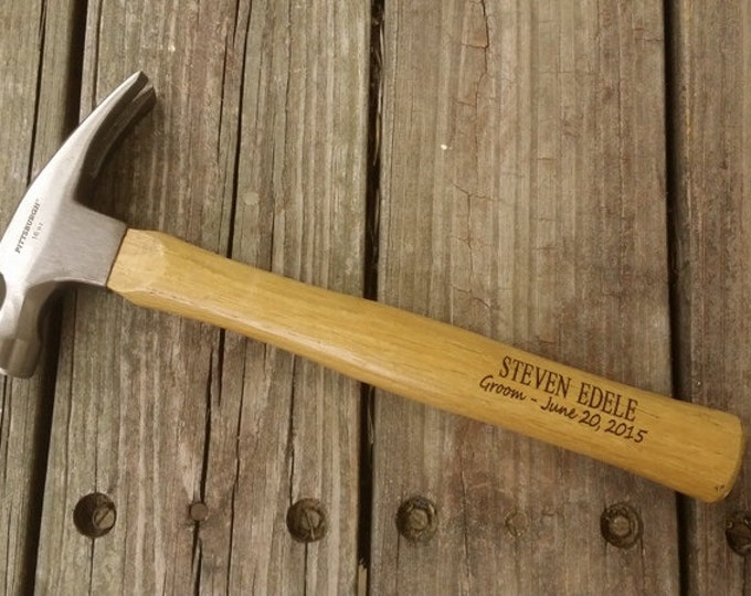 Groomsmen Gift - Engraved Wooden Handled Hammer - Personalized Hammer - Father's Day Gift - Gift for Dad