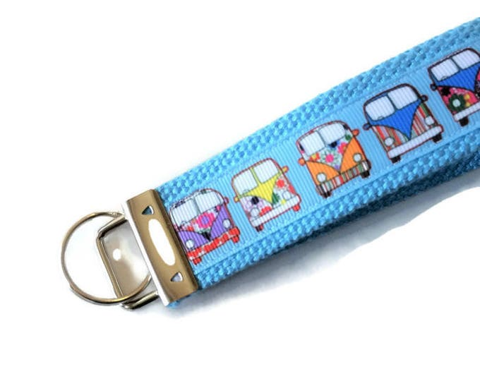 Key Fob - VW Bus - Retro Key Chain - Retiree Gift - Gift for Baby Boomer - 60s Throwback