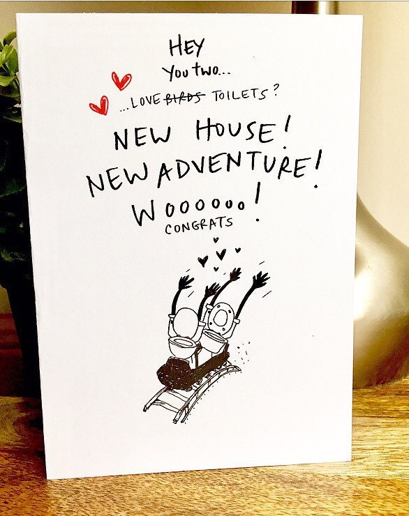 Congrats on the new house card new house card housewarming card congrats on the new house card new house card housewarming card love birds unique housewarming card hand lettered new home card m4hsunfo