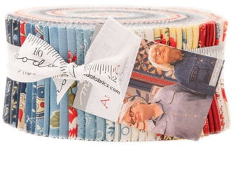 Moda Anns Arbor Jelly Roll by Minick and Simpson 2.5 inch Fabric Strips- Quilt Fabric