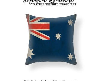 Australian Flag Pillow Cover, Heritage Throw Pillow, Australian Patriotic Flag Toss Pillow, National Flag Cushion Cover, Family Throw Pillow