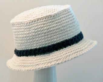 Crochet Pattern - Boys Hat - Mens Hat - Sun Hat - Bucket Hat - Size Baby, Toddler, Boys, Teen, Men's, Men's L, XL, Meadowvale Studio #118