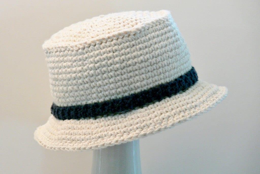 Crochet Pattern Boys Hat Mens Hat Sun Hat Bucket Hat Size