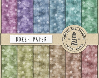 DEFOCUSED LIGHTS, Bokeh Digital Paper, Colorful Bokeh Paper, Sparkling Textures, Blurry Backgrounds, Bokeh Scrapbooking Paper, BUY5FOR8