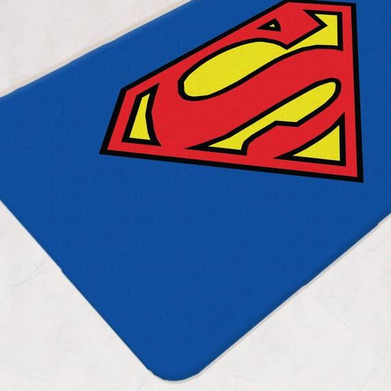 Superman Bathroom Decor: Superman Bathroom Bath Mat Superhero Bathroom Justice