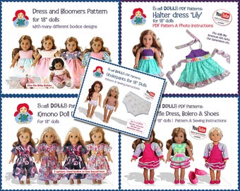 American Girl Doll Clothes Pattern Bundle INSTANT DOWNLOAD