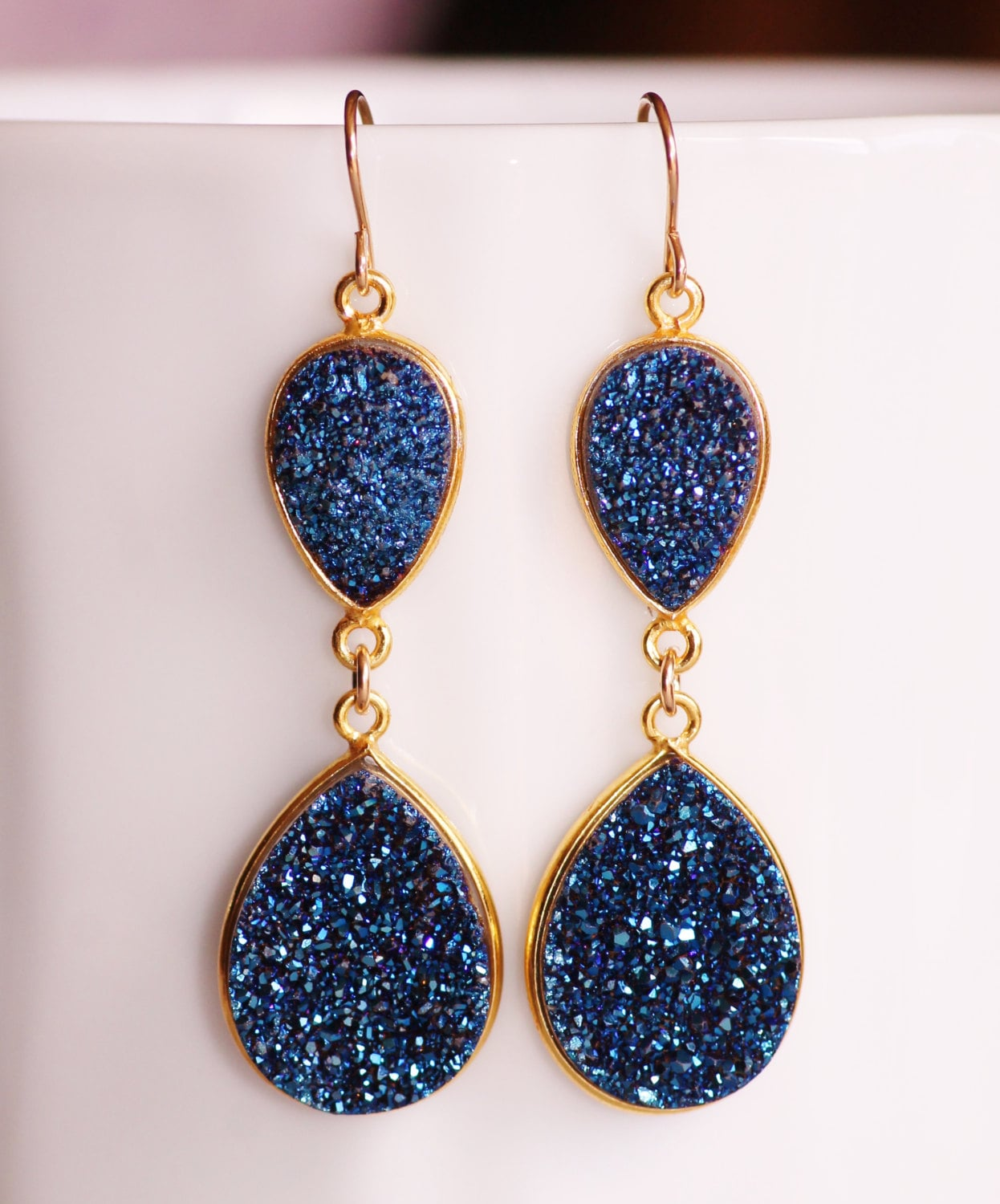plated royal pin earring jewelry earrings dark blue silver gemstone agate navy
