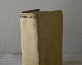 Tiny Antique Vellum Book
