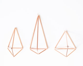 Pyramid Himmeli Combo (Set of 3) - Geometric Airplant Holders - Home Decor - Wall Sconce