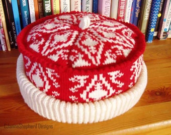 Gemma-Joy's Hat - Machine Knitting Pattern by Janine Shepherd