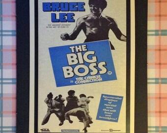 The Big Boss Vintage Movie Poster 12'x18' Reproduction // Bruce Lee // Martial Arts // Hong Kong // Kung Fu
