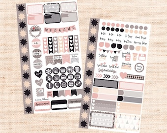 Soft Winter PERSONAL Kit (matte planner sticker, Filofax, Kikki K, Websters Pages, Color Crush)