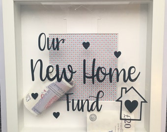 New Home Saving Fund Frame New Home Gift Couple Gift New Home Money Box