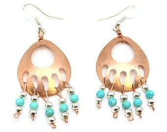 Copper Bear Paw Earrings