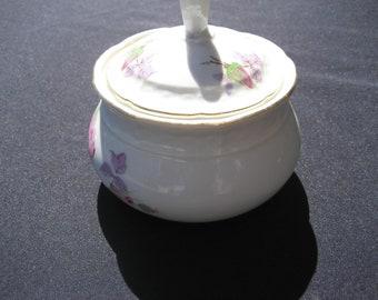 Rare TKThun Czech.V lidded sugar bowl