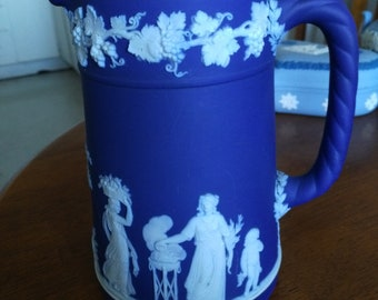 Jasperware Wedgwood Milk Jug Pitcher. Porcelain Tableware.