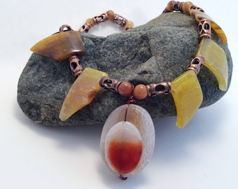 Agate on Agate Necklace