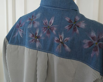 Hand Painted Blouse - Blossom