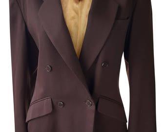 KENZO Vintage Brown Wool Double Breasted Blazer (UK 12)