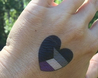 Demisexual Temporary Heart Tattoo