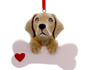 Yellow Labrador Personalized Christmas Ornament, Ornament, Yellow Lab, Lab, Personalized, Labrador