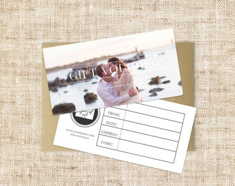 Gift voucher etsy modern gift voucher design template double sided photographer gift certificate small business gift card colourmoves