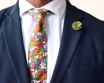 Olive green lapel felt flower pin for mens suit jacket | groom and groomsmen wedding boutonnière alternative |